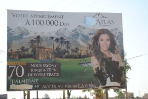 Eva Longoria billboard graffiti