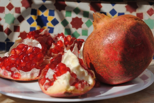 pomegranates in Marrakech