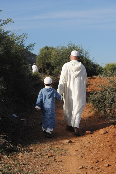 Walking to Eid prayer, Marrakesh Morocco