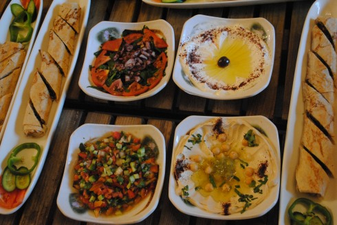 hummus and baba ghanoush, middle eastern food